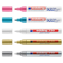 1pcs Edding 750 Waterproof Permanent Marker Metallic Paint Marker