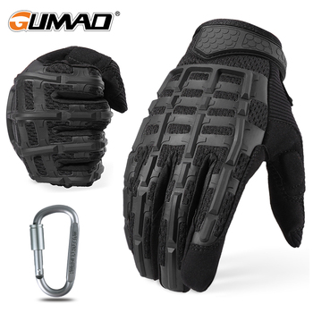 цена на Full Finger Long Glove Tactical Rubber Knuckle Gloves Black Camo Army Military Airsoft Outdoor Sport Biking Cycling Driving Men