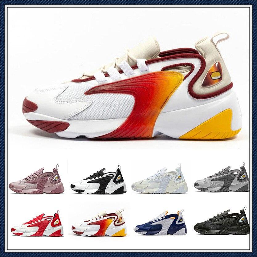 2020 Rainbow Triple noir crème blanc Zoom 2K M2K hommes chaussures de course Tekno course rouge bleu Royal gris foncé hommes femmes Sport Snea