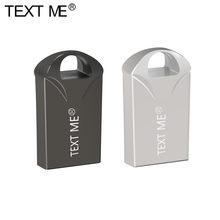 Metin süper Mini USB flash sürücü 128GB 64GB 32GB 16GB 8 GB Metal kalem sürücü Pendrive 128 64 32 16 8 GB USB Flash bellek Cle USB