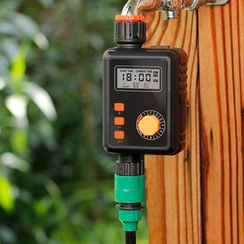 Podlewanie ogrodu zegar funkcja deszczu pokrętło automatyczny elektroniczny wodomierz domowy nawadnianie ogrodu wyłącznikiem czasowym tanie i dobre opinie Other CN (pochodzenie) Z tworzywa sztucznego Digital Irrigation Timer