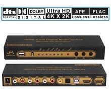 HDMI 5,1 Coaxial Digital Audio player Konverter Decoder Mit USB Multi Media DAC DTS AC3 FLAC PCUSB APE Extractor splitter