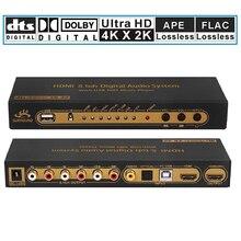 Коаксиальный цифровой аудио плеер HDMI 5,1 преобразователь декодер с USB Мультимедийный DAC DTS AC3 FLAC PCUSB разветвитель для APE
