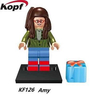 Plastic Model TBBT Cartoon Movie Sheldon Leonard Raj Penny Bernadette Amy Howard Bricks Building Blocks Kids Toys KF1025