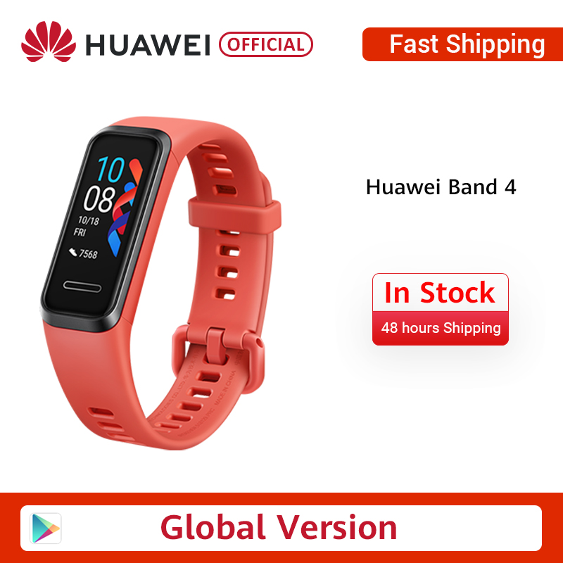 In Stock Gloabl Version Huawei Band 4 Smart Wristband 0.95'' Color Touch AMOLED  Screen Swim Posture Detect Heart Rate