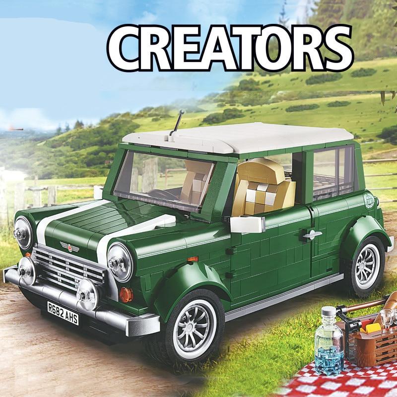 1267 Technic Mini Cooper Creator Expert Compatible Lepinblock 10242 DIY Building Blocks Bricks Classic Car Model Kids Gift Toys