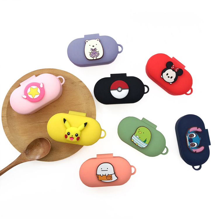 Cartoon Cute Silicone Case For QCY T3 Wireless Bluetooth Headset Portable Protective Cover With Anti-lost Buckle For QCY T3