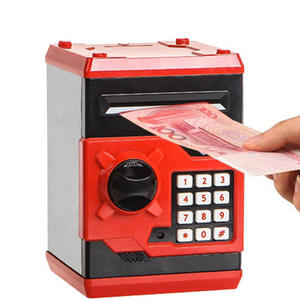 New Piggy Bank Mini Atm Money Box Electronic Password Chewing Coin Cash Deposit Machine Gift For Children Kids-Black
