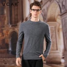 UCAK бренд мужчины свитера 100% мериносовая шерсть o-образным вырезом Srtriped повседневная новый стиль уличной моды весна осень свитер U3155