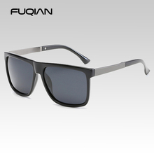 FUQIAN Brand Design Fashion Polarized Men Sunglasses Retro S