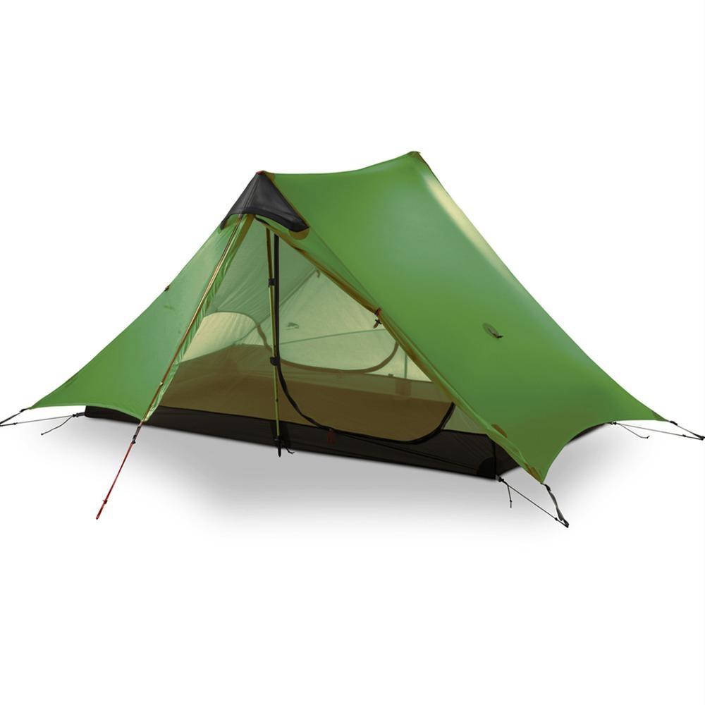 3F UL GEAR 2019 Lanshan 2 Rodless Tent 2 Person Professional 15D Silnylon Tent Oudoor Ultralight Camping Tent 3 4 Season Tent