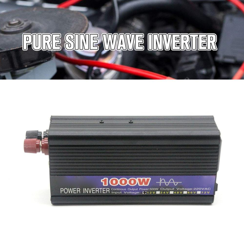 1000W Reine Sinus Welle Intelligente String <font><b>Inverter</b></font> 12 V/24 V/48 V/60 V zu <font><b>220V</b></font> Power <font><b>Inverter</b></font> Auto Konverter Adapter Auto <font><b>Inverter</b></font> image