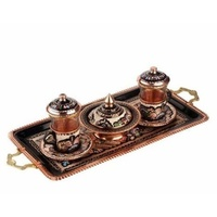 Special Embroidered Turkish Greek Coffee Tea Espresso Serving Cups Set for 2