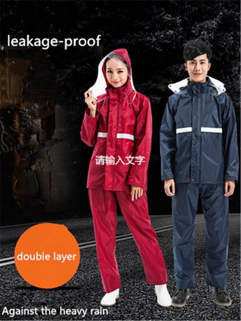 Men's Raincoat Rain Pantsuit Male Cycling Female Adult Coat Body Waterproof Reinforced Protection  Hiking Split Poncho