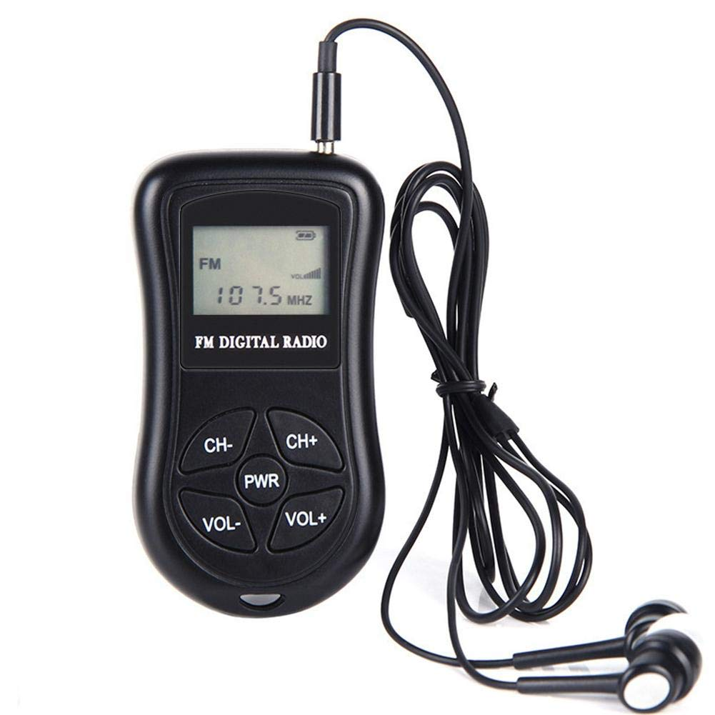 Portable Pocket Radio Battery Operated FM FM Receiver <font><b>Mini</b></font> Radio Digital <font><b>DSP</b></font> LCD Stereo Low Power Pocket Receiver image