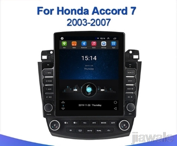 9.7 octa core tesla style vertical screen Android 10 Car GPS radio Navigation for Honda Accord 2003-2007 image