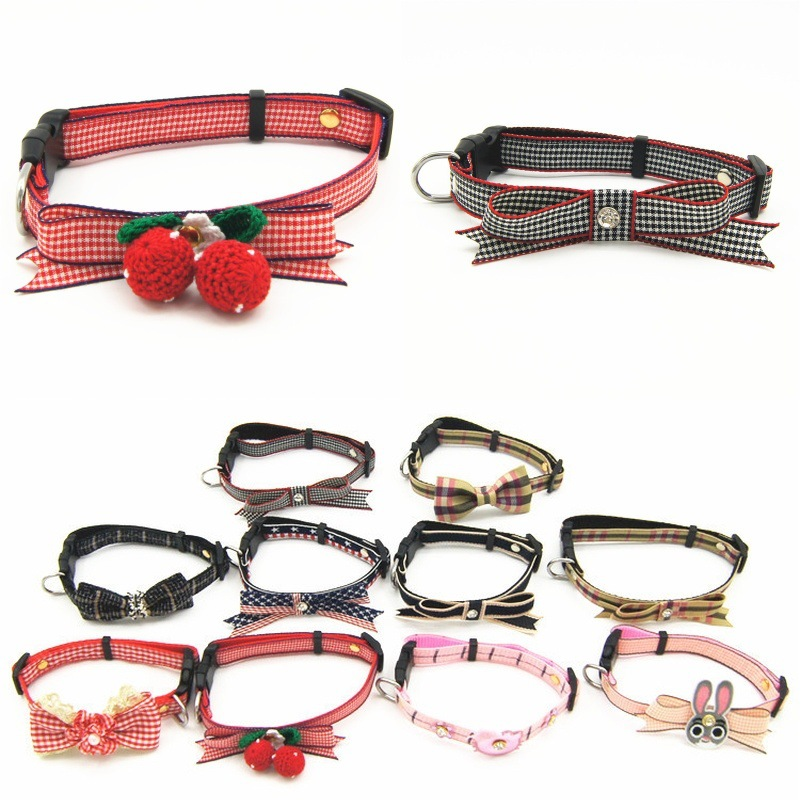 New Style Selectable High Quality Release Buckle Pet Collar Small And Medium-sized Dogs Bow Neck Ring Pet Supplies