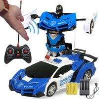 Gesture Sensing RC Spielzeug Auto 24cm Transformation Roboter Elektrische Fernbedienung Verformung Sport Autos Spielzeug für Kinder Kinder Y155