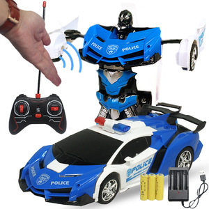 Gesture Sensing RC Toy Car 24cm Transformation Robot Electric Remote Control Deformation Sports Cars Toy for Kids Children Y155
