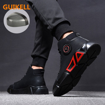 GUIKELL Fashion Safety Shoes 38~46 Steel toe safty shoes Anti-smashing work shoes men work boots #RN919