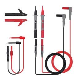 8 sztuk uniwersalny sondy przewody pomiarowe Pin dla multimetr końcówka igłowa miernik wielu miernik Tester sondy kabel z drutu zestawy|Mierniki wielofunk.|   -
