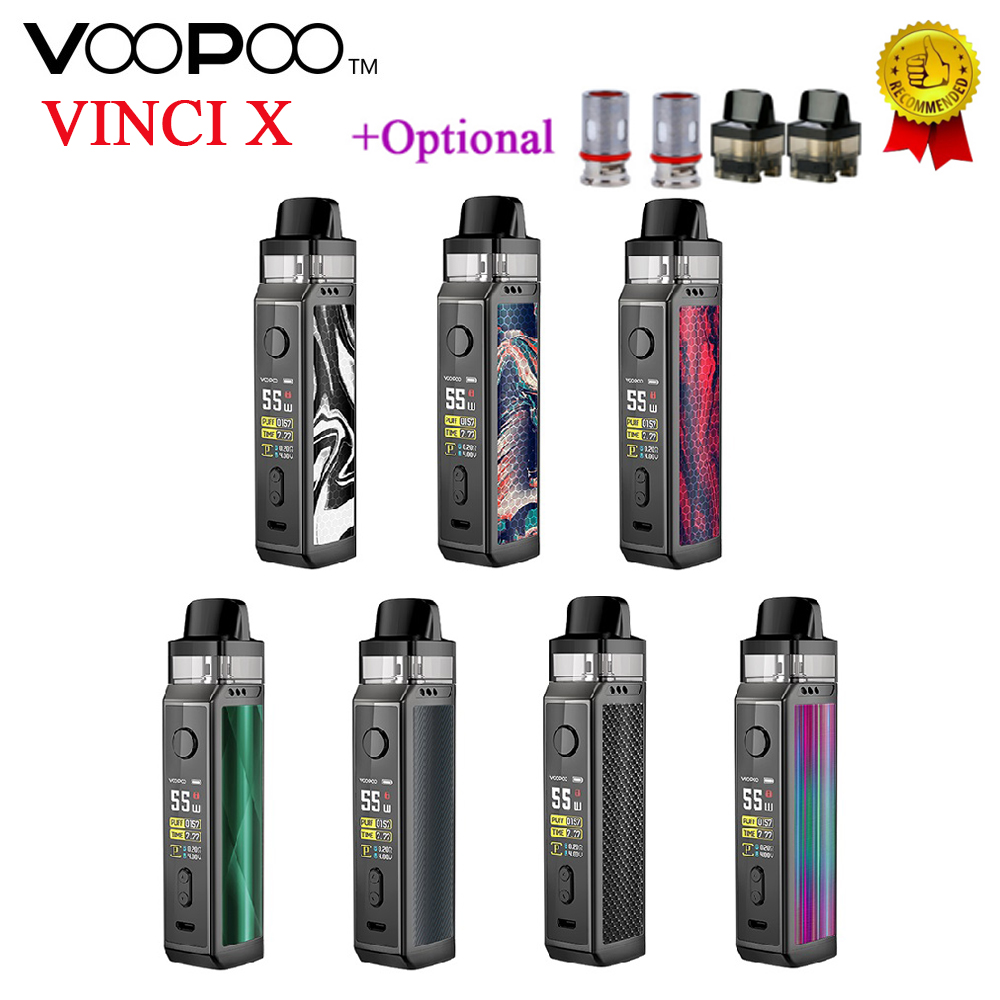 Updated!! VOOPOO VINCI X 70W Pod Kit Dual-coil System 0.96-Inch TFT Color Screen Fit 18650 Battery Vape Kit VS Vinci Kit/ Drag 2