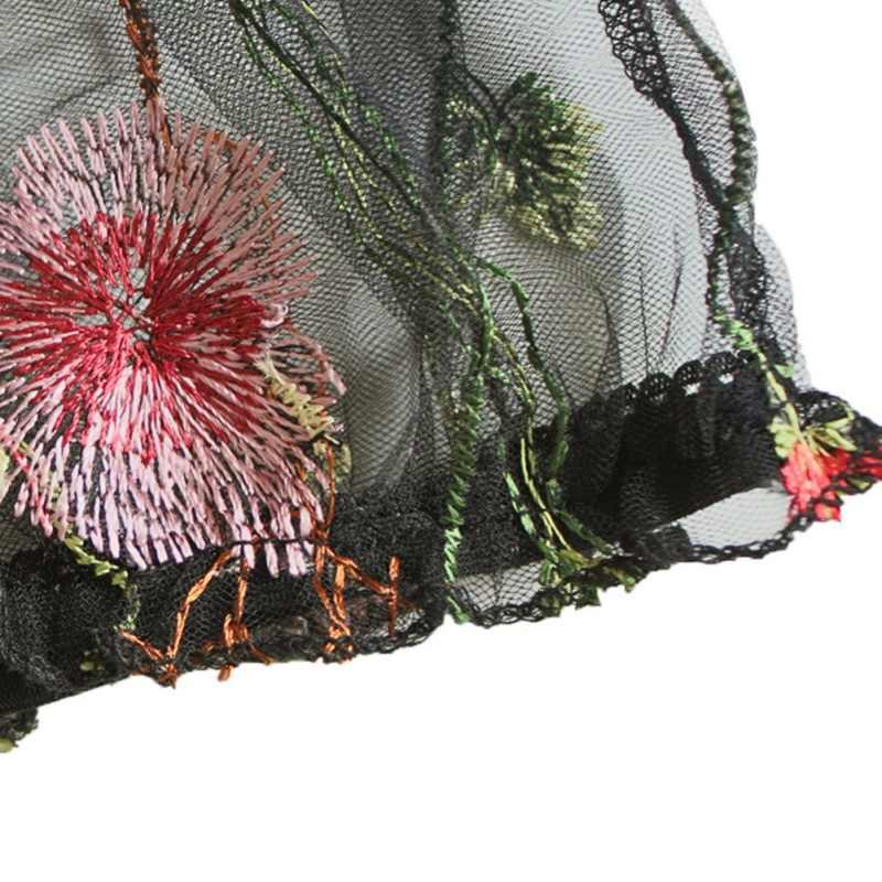 طقم ملابس داخلية نسائي مثير مكون من حمالة صدر وأطقم موجز ملابس داخلية نسائية حمالة صدر شبكية شفافة مطرزة