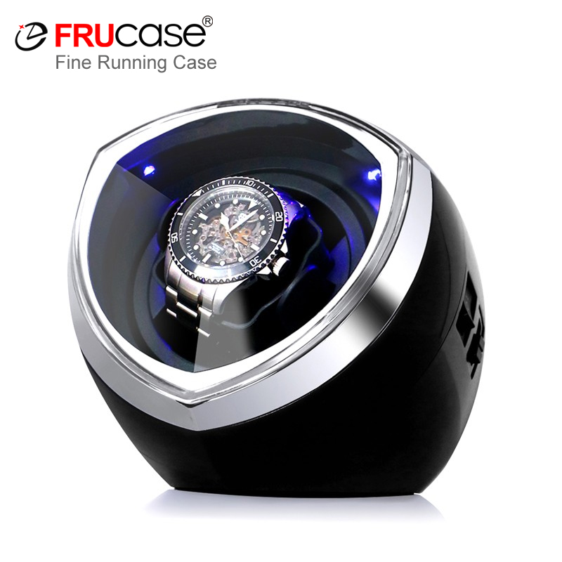 FRUCASE Black New Arrival White Single Watch Winder For Automatic Watches Watch Box Automatic Winder Storage Display Case Box