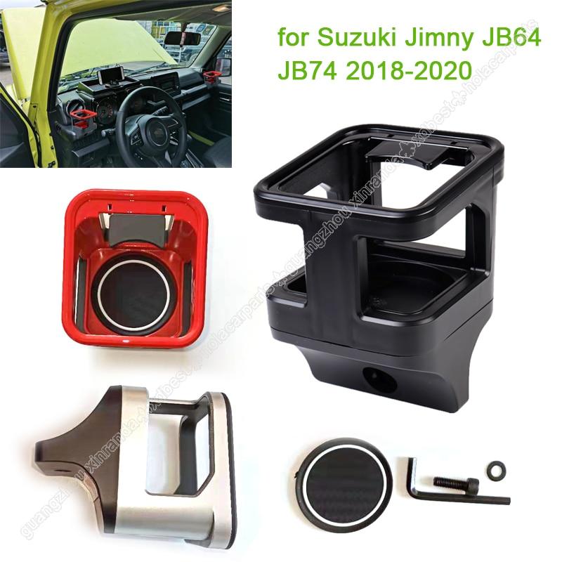 Voiture eau tasse porte-bouteille anti-dérapant ABS porte-boissons de voiture pour Suzuki Jimny JB64 JB74 2018-2020 voiture bouteille d'eau support de montage