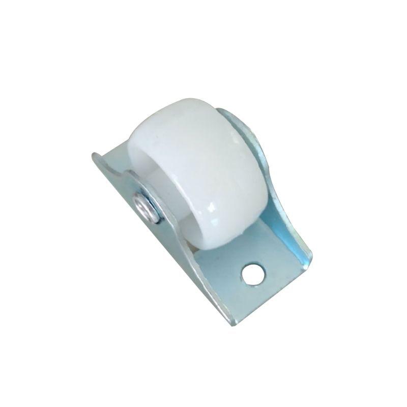 Resistentes fixos em trilho branco, pequeno acessórios de ferragem direcional de plástico para móveis da roda única viagem com 10 peças-0