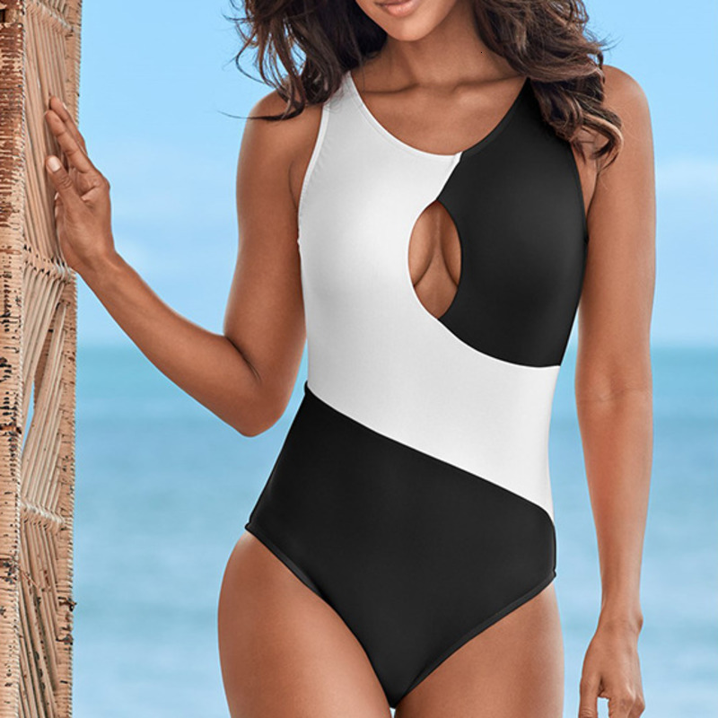Sexy One-Piece Swimsuit Closed Bather Beach Female Push Up Swimwear For The Pool Body Bathing Suit Women Sports Swimming Suits