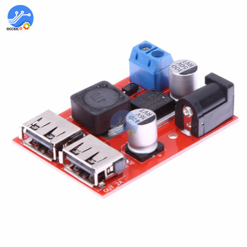 LM2596S Dual USB Charger Module DC 9V 12V 24V 36V to 5V 3A Buck Converter Board Car Charger Battery Power Supply image