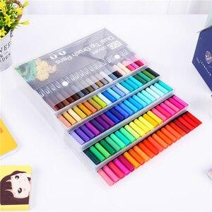 Image 3 - Drop Verschiffen 100 Farbe Marker Scan Marker Zeichnung Pinsel Stift Zeichnung Malerei Aquarell Marker Kunst Stifte Marker