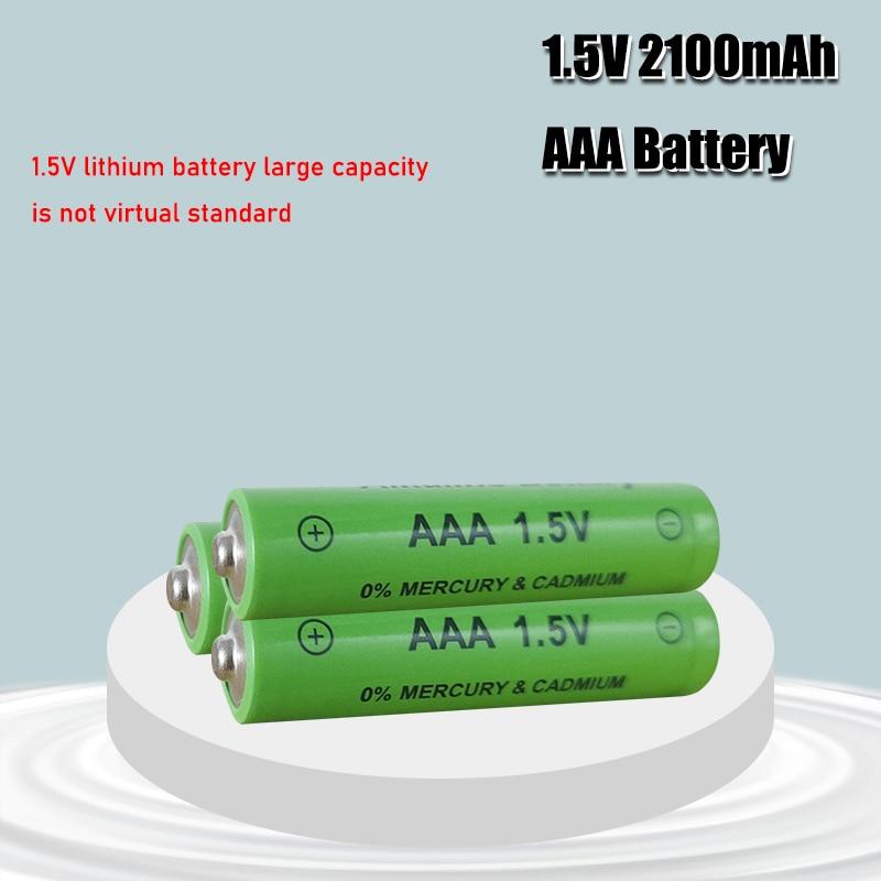 1-4 шт новый бренд AAA батарея 2100mah 1,5 V Щелочная AAA аккумуляторная батарея для дистанционного управления игрушечный светильник Batery
