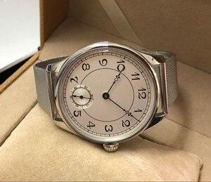 Image 3 - 44 มม.GEERVO สีขาว dial เอเชีย 6498 17 Jewels มือลมผู้ชายนาฬิกาขายส่ง 179a