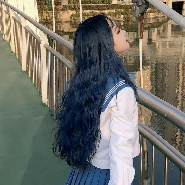 MANWEI-perruque synthétique ondulée multicolore avec frange pour femmes, coiffures synthétiques Cosplay Lolita résistantes à la chaleur, rose et Orange