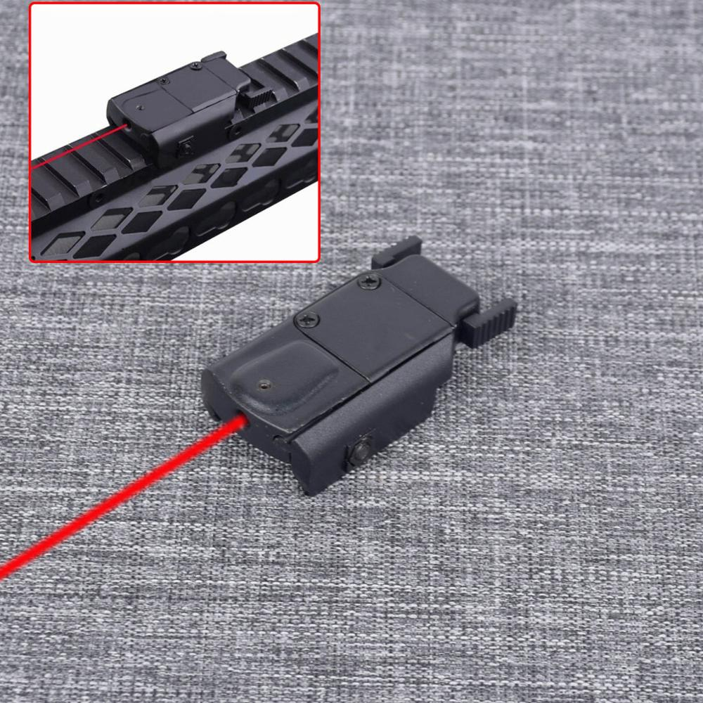 Tactical Red Laser Sight Laser Pointer Fit Pistol Hunting Airsoft Gun PP20-0035 With 20mm Weaver/Picatinny Rail