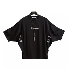 Summer Short Sleeves Harajuku Fashion Black T-shirt Streetwear One Piece Hip Hop Rock Punk Men'S Top Tees Tshirt Clothes