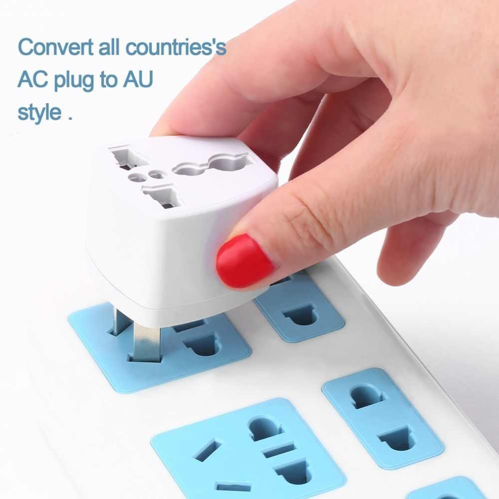 Podróży uniwersalny konwerter wtyczki nas do AU UK ue do usa zasilacz sieciowy zasilacz za pomocą tego narzędzia online bez wylot podróży w domu wtyczka ścienna 3 Pin