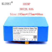 KLUOSI 36V 10S9P 28.8Ah 1200W High Power Capacity Li-ion Battery Pack for Electric Car Bicycle Motor Scooter 35A Balanced BMS kluosi 36v 10s7p 22 4ah 1200w high power capacity li ion battery pack for electric car bicycle motor scooter 35a balanced bms