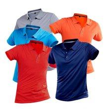 Рубашка-поло мужская быстросохнущая, классическая сорочка из дышащего материала, Повседневная однотонная облегающая спортивная одежда, ру...