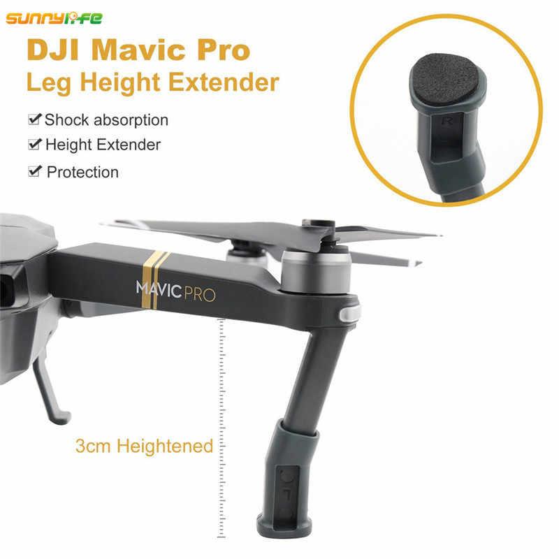 สำหรับDJI Mavic Proกล้องเลนส์บังแดดรีโมทคอนโทรลจอยสติ๊กยึดซิลิโคนLanding Gear