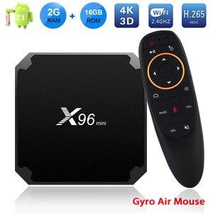 Image 1 - X96 Mini TV Box 2GB 16GB Amlogic S905W Smart Android TV BOX 7.1 2.4G Wireless WIFI 4K HD X96mini Media Player Set Top Box