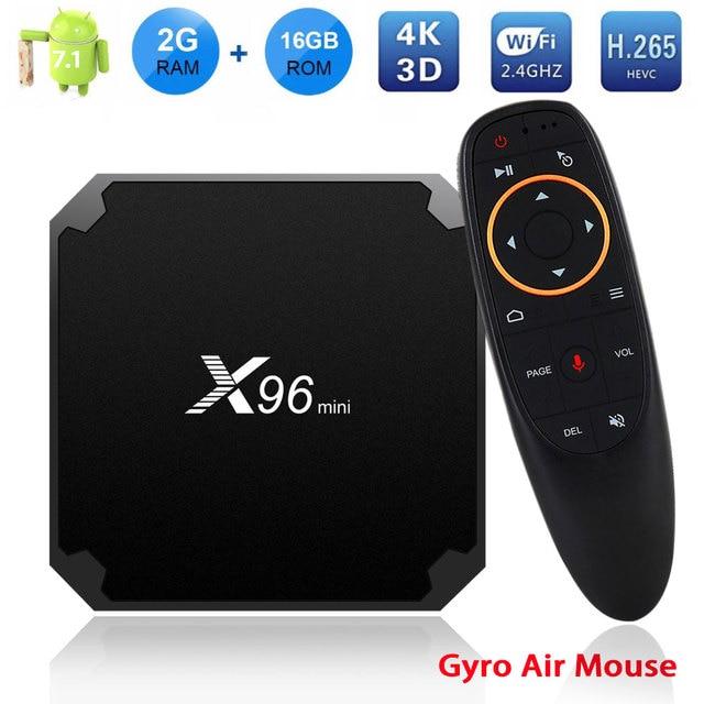X96 Mini TV Box 2GB 16GB Amlogic S905W Smart Android TV BOX 7.1 2.4G Wireless WIFI 4K HD X96mini Media Player Set Top Box