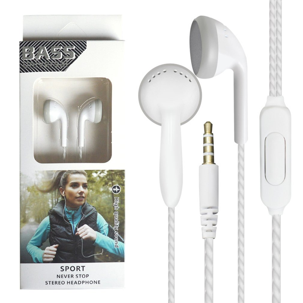 Transer Luminous In-ear Earphones with Mic /& Volume Control Bass Stereo Earbuds Headset for IPhone Android Smart Cell Phones White