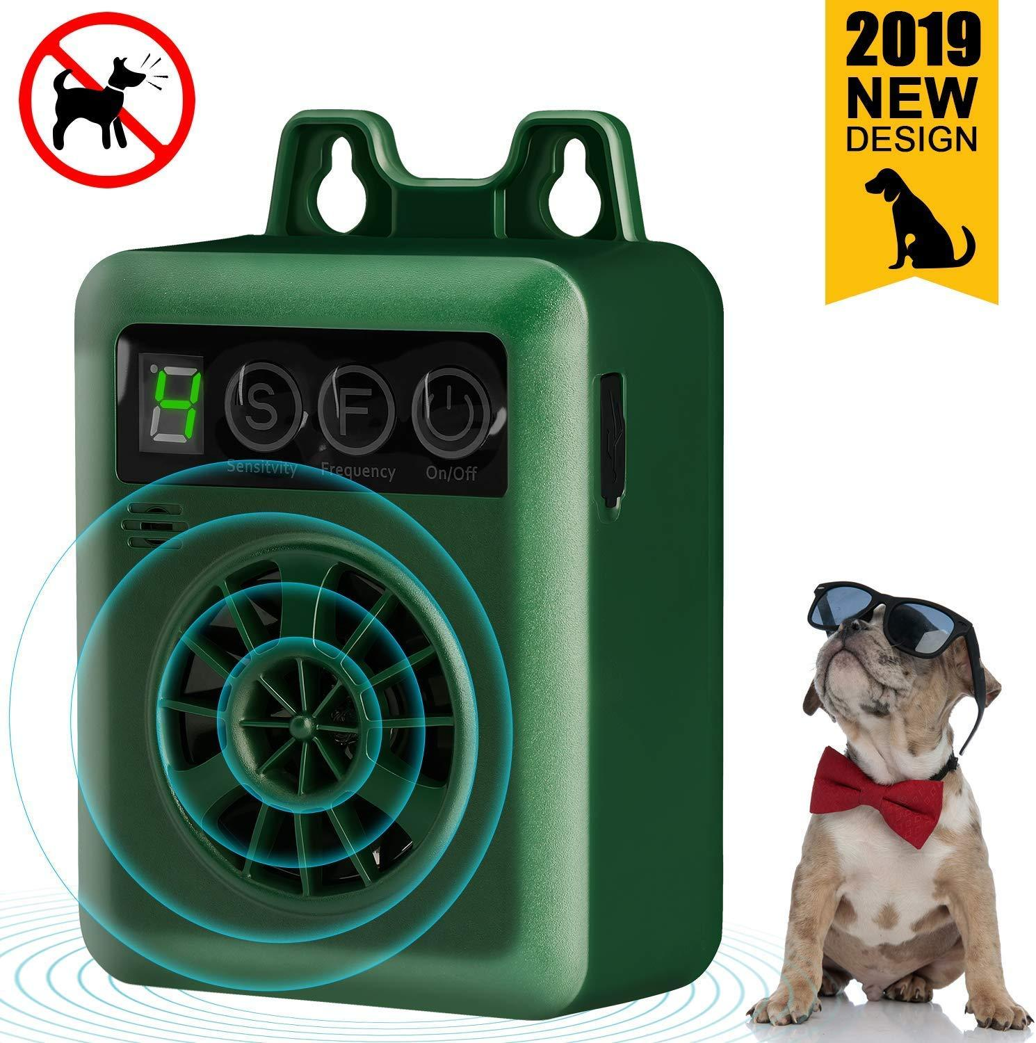 Pet Dog Ultrasonic Bark Control Device Anti Barking Stop Rechargeable LED Repeller Outdoor IndoorStop No Bark Training Device
