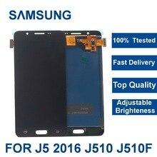 For Samsung Galaxy J5 2016 J510 LCD Display Touch Screen J510FN J510F J510M J510H /DS Screen Assembly brightness adjustment цена и фото
