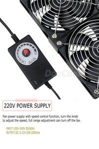 Image 5 - Gdstime 12cm High Speed DC 12V 220V Btc Mining Machine Chassis Workstation Cabinet Radiator 120MM Violent Server Cooling Fan