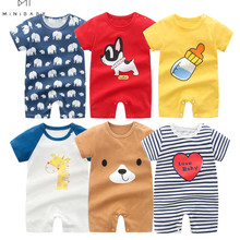 2021 Summer Baby Romper Short Sleeve Cotton pajamas Newborn clothes for boys jumpsuit Baby Outfits Clothing overalls for newborn