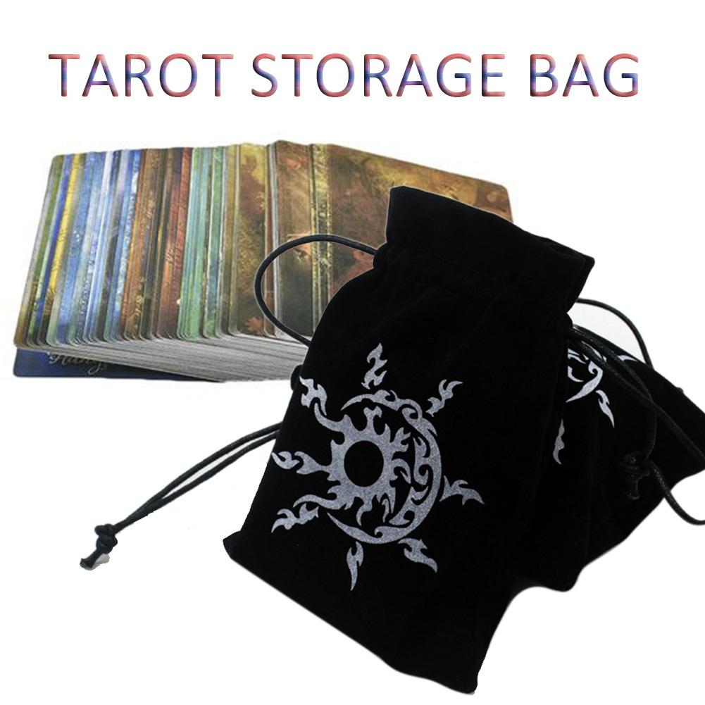 1pc Tarot Storage Bag High-grade Flannel Pouch Game Cards Holder Container Paper Card Package Bag Small Drawstring Bags 13*18CM